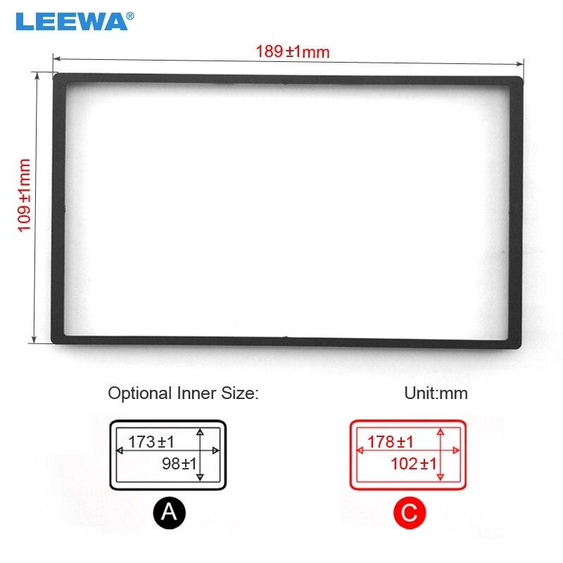LEEWA Car DVD/CD Radio Stereo Fascia Panel Frame Adaptor Fitting Kit For Honda FIT(Jazz) #CA4406 feeldo car dvd cd radio stereo fascia panel frame adaptor fitting kit for mazda rx8 am4744