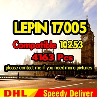 LP 17005 4163 шт город большая модель часов строительный комплект набор блоков Кирпичи дети LP подарок LPings игрушки одиночный 10253