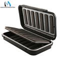Maximumcatch Super Large Fly Fishing Box Black Plastic Large Size 192*108*40mm With Swingleaf Waterproof Fly Box