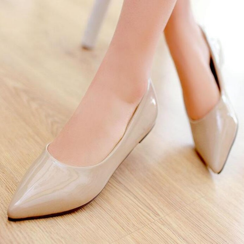 New Style Womens Pointed Toe Solid Flats Slip On Leisure Causal Shoes Plus Size Dress shoes Slip on Loafer Shopping Red Black enmayer pointed toe summer shallow flats slip on luxury brand shoes women plus size 35 46 beige black flats shoe womens