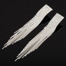 YFJEWE New Classic Jewelry Exaggerated Full Crystal Long Drop Earring Statement Tassel Chain Earrings Gift For Women #E440