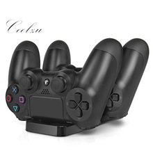 PS4 Laddstation - Dual USB Laddare Dock Station Cradle Stand Base för Sony Playstation 4 PS4 Dual Shock Controller