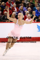 Crystal Custom Figure Skating Dress Girls New Brand Ice Skating Clothes For Competition DR4611