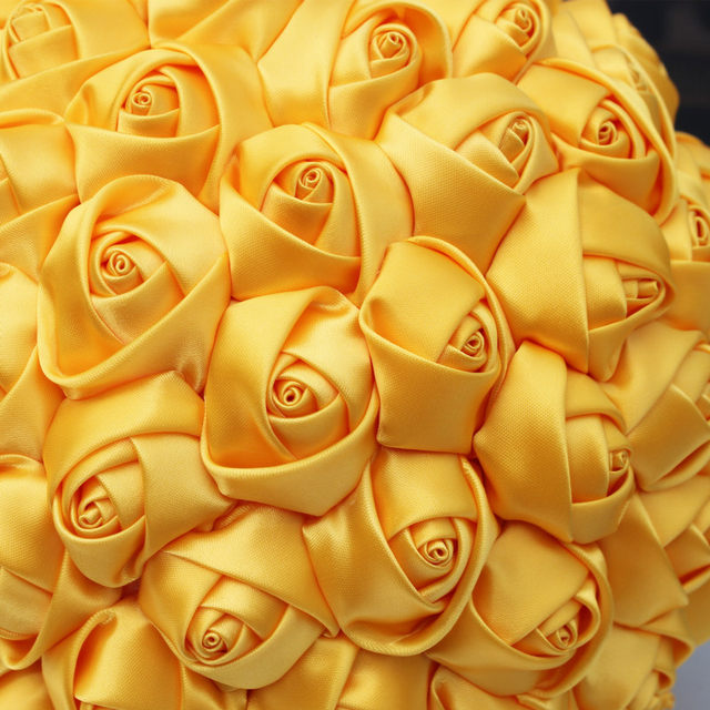 Online shop casual candy color yellow wedding bouquet flower online shop casual candy color yellow wedding bouquet flower marriage artificial flower ribbon satin rose foam ball bridal bouquet w223 4 aliexpress mightylinksfo