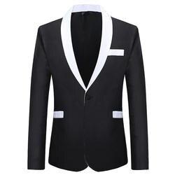 Блейзер Masculino Для мужчин одежда 2019 Весна Новый Большой Размеры свободный костюм Мужская Мода Повседневное черный Банкетный Платье Блейзер