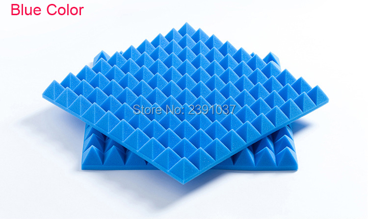 US $170 0 |China factory Blue color High Density Sound Proof Acoustic Foam  30pices big size 50x50cm-in Wall Stickers from Home & Garden on
