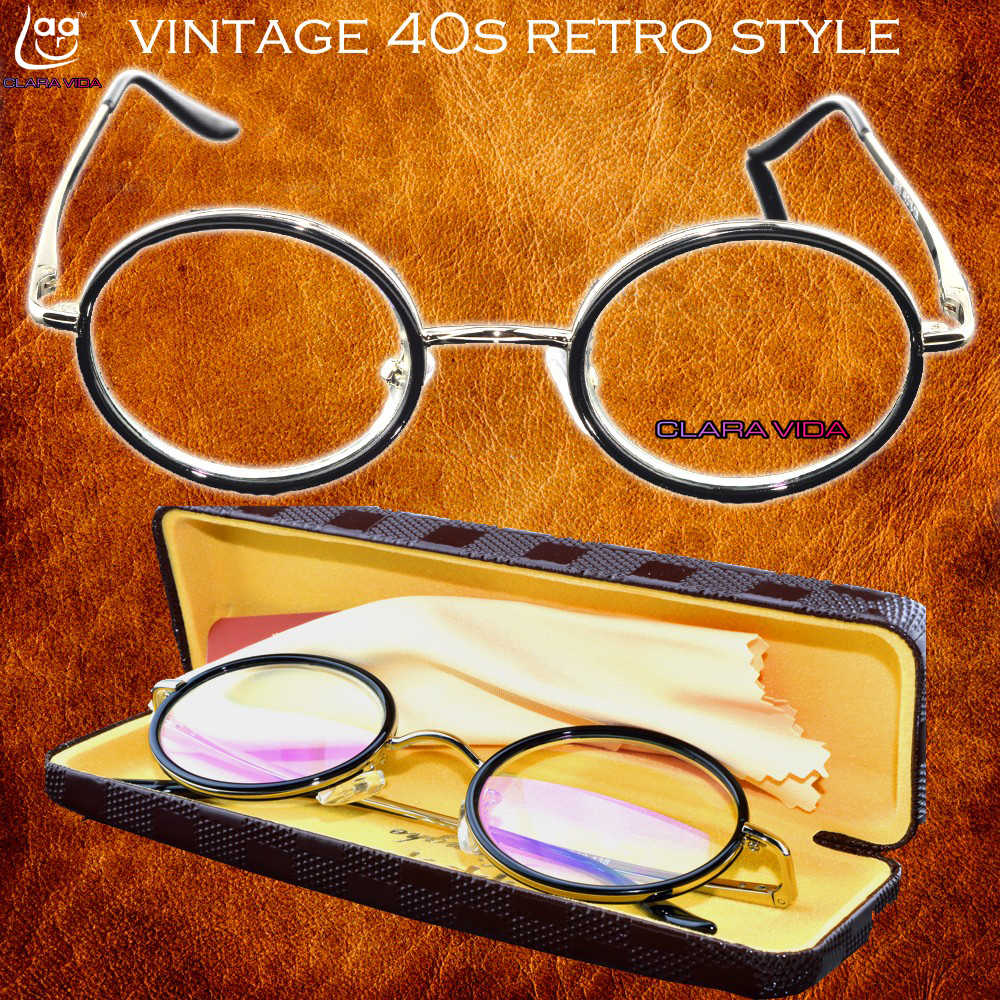 2019 =clara Vida=luxury Noble Titanium With Box Senator Round Retro Classical Duke's Reading Glasses+1 +1.5 +2 +2.5 +3 +3.5 +4