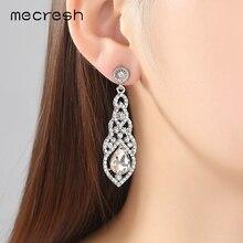 Clear Crystal Bridal Jewelry Sets Teardrop Bracelet Earrings Sets Wedding Jewelry for Women Classic Style