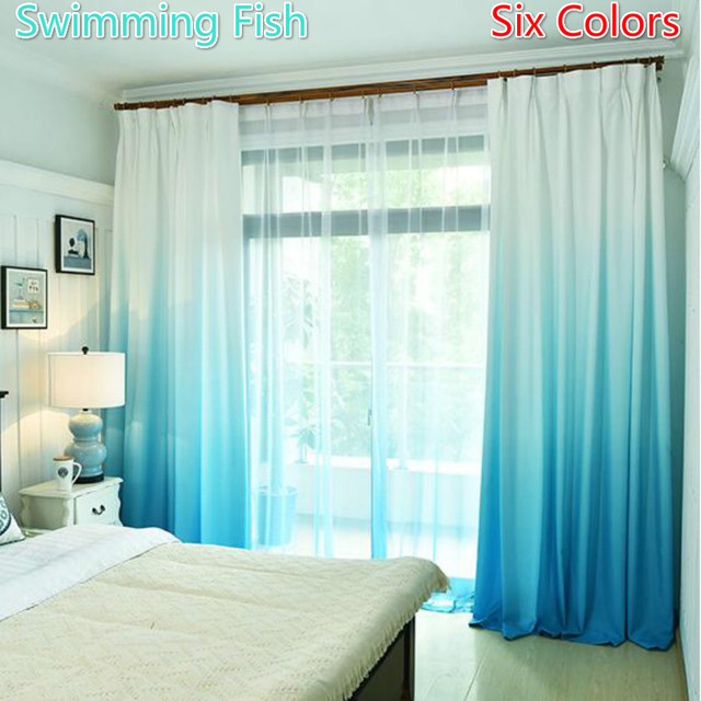 Merveilleux 6 Colors Custom Made Curtain Gradual Change Color Fabric Curtain Drape For  Bedroom Living Room Window