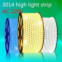 100m/roll 3014 AC 220V soft light strip 120led/meter waterproof IP65 lamp with power plug factory wholesale DHL free shipping