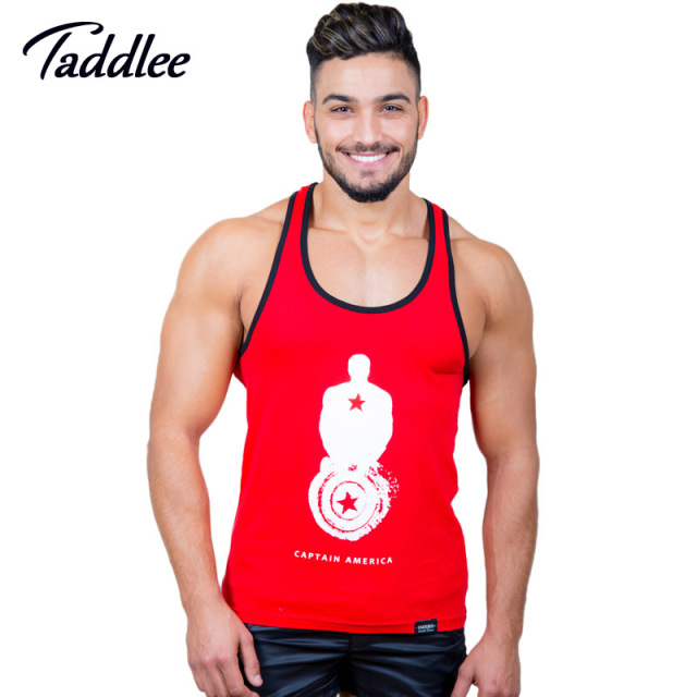 a21cf36542b457 Taddlee Brand Men Top Tees Shirt Gym Muscle Tank Fitness Workout Sports  Running T shirts Sleeveless Cotton Stringers Singlets