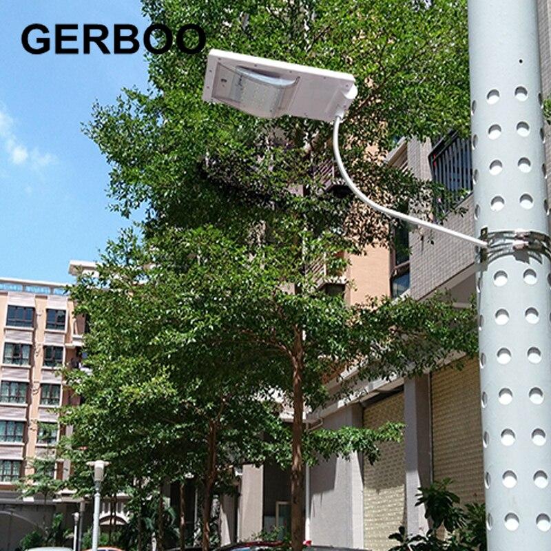 ФОТО GERBOO 2016 NEW 24 LED Solar Sensor Lighting Solar Lamp Powered Panel LED Street Light Outdoor Path Wall Lamp Spot Light