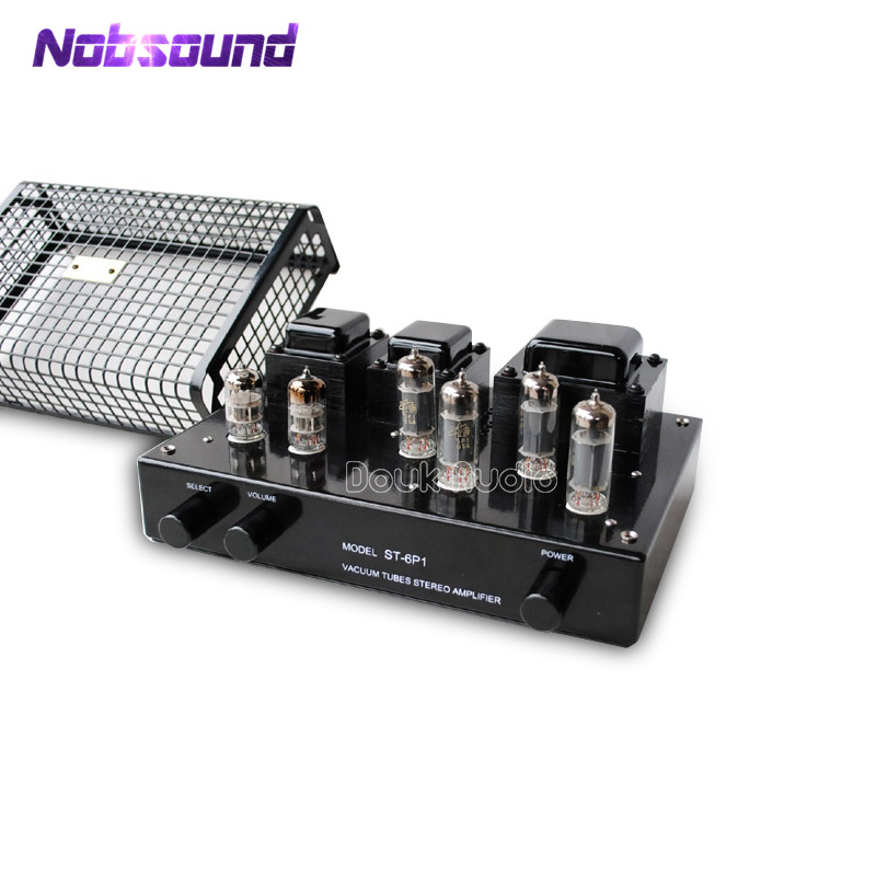 купить Nobsound 6P1 Push-Pull Valve Tube Stereo Amplifier HiFi Power Vacuum Amplifier 12W*2 Black Desktop Amplifier по цене 16265 рублей