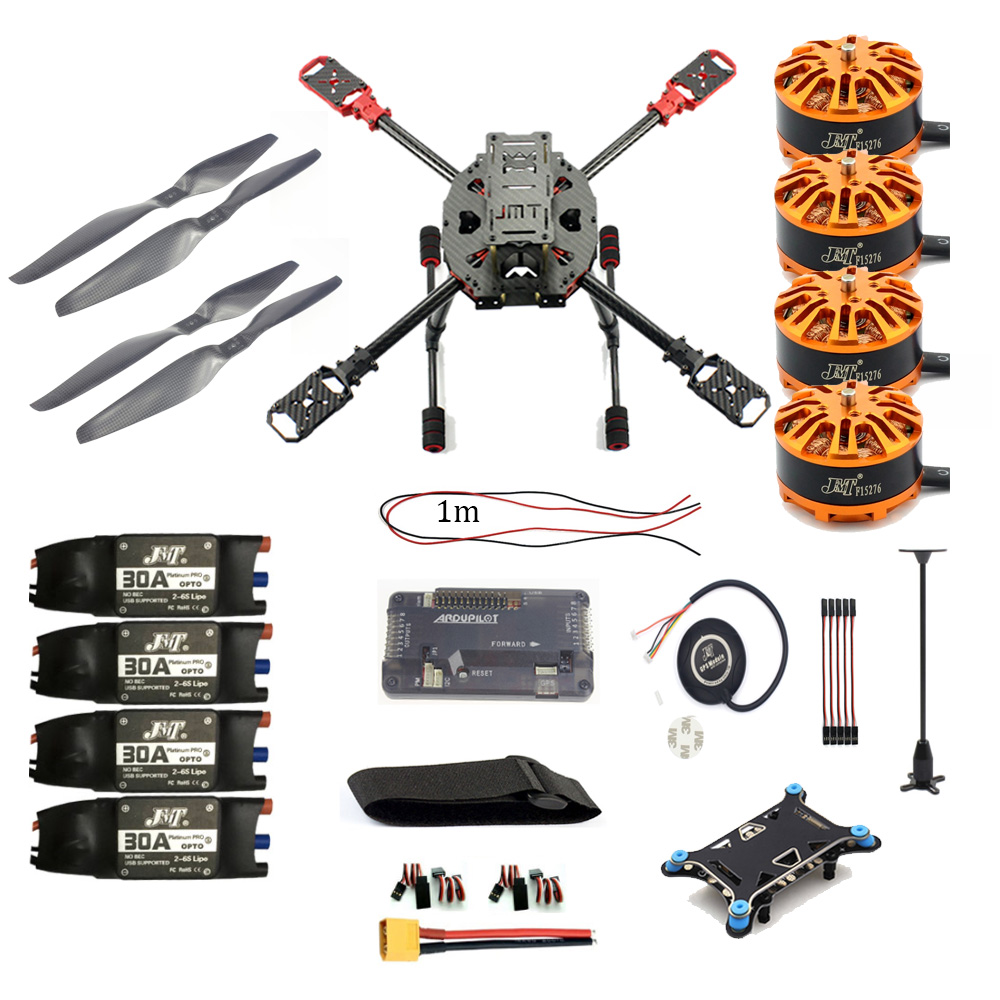 DIY Multicopter 2.4GHz 4-Aixs RC Airplane APM2.8 M7N GPS 630MM Carbon Fiber Frame W/ Motor ESC Props Spare Parts jmt j510 510mm carbon fiber 4 axis foldable rack frame kit with high tripod for diy helicopter rc airplane aircraft spare parts