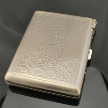 Bronze high-grade cigarette case with lighter smoking 20 tools, men's gifts