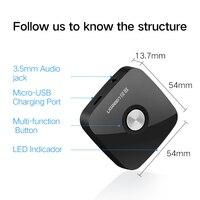 Ugreen 4 1 Wireless Bluetooth Receiver 3 5MM Aux Receiver Audio Stereo Music Receiver Bluetooth Audio