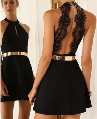 Halter Neck Sleeveless Chiffon Short Mini Dress 4
