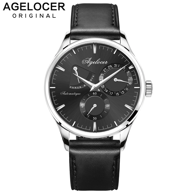 Agelocer Swiss logo luxury men watches roles silver gold dress roman automatic watch male auto date wristwatch relojes hombre jam tangan pria gold original