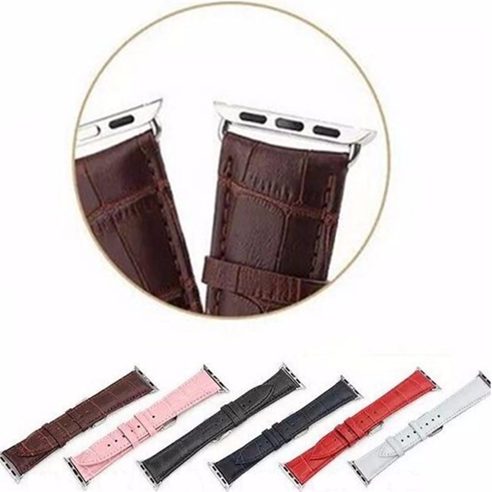 купить CRESTED Sport Genuine Leather watch strap band For Apple Watch 3 42mm 38mm Link Bracelet watchband for iWatch 3/2/1 belt по цене 524.88 рублей