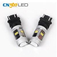 CN360 2 SZTUK 3020 14SMD 3157 LED Światła Hamowania Biały Signal Samochodów żarówka 12 V 28 W LM Dobre Odprowadzanie Ciepła Bez Odblasków Mniejszy Rozmiar