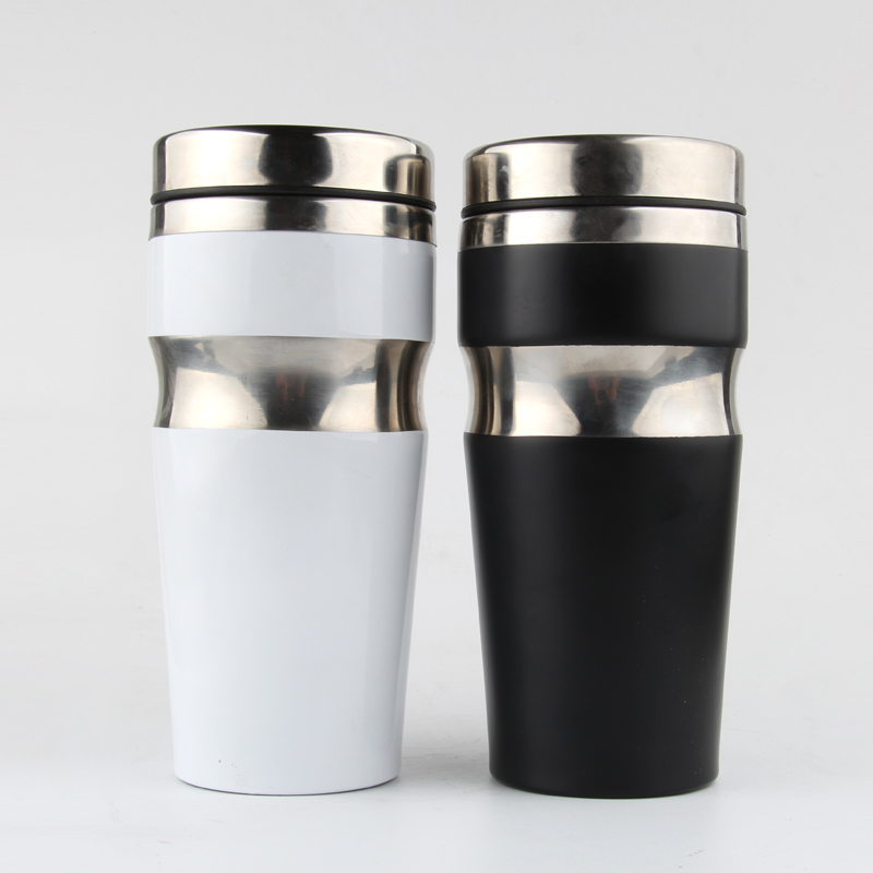 400ml Coffee Cup Stainless Steel Water Bottle for Coffee Metal Mugs with Lids Auto Car Heating