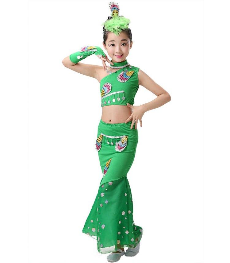 Girl Dance Children Indian Traditional Dress Sequins Belly Dance