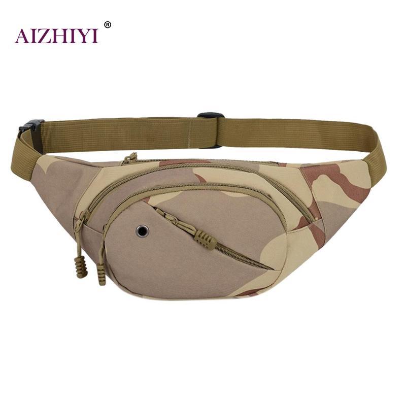 Portable Camo Fashion Men Waist Packs Crossbody Messenger Shoulder Handbags High Quality Walking Mountaineering Travel Waist Bag