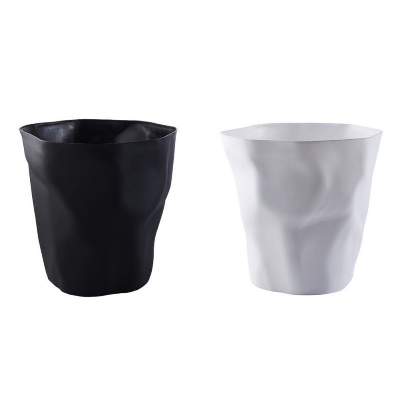Image 3 - Black/White Colors Nordic Style PP Wastebasket Trash Can, Round Desk Pen Holder, Flowerpot-in Waste Bins from Home & Garden