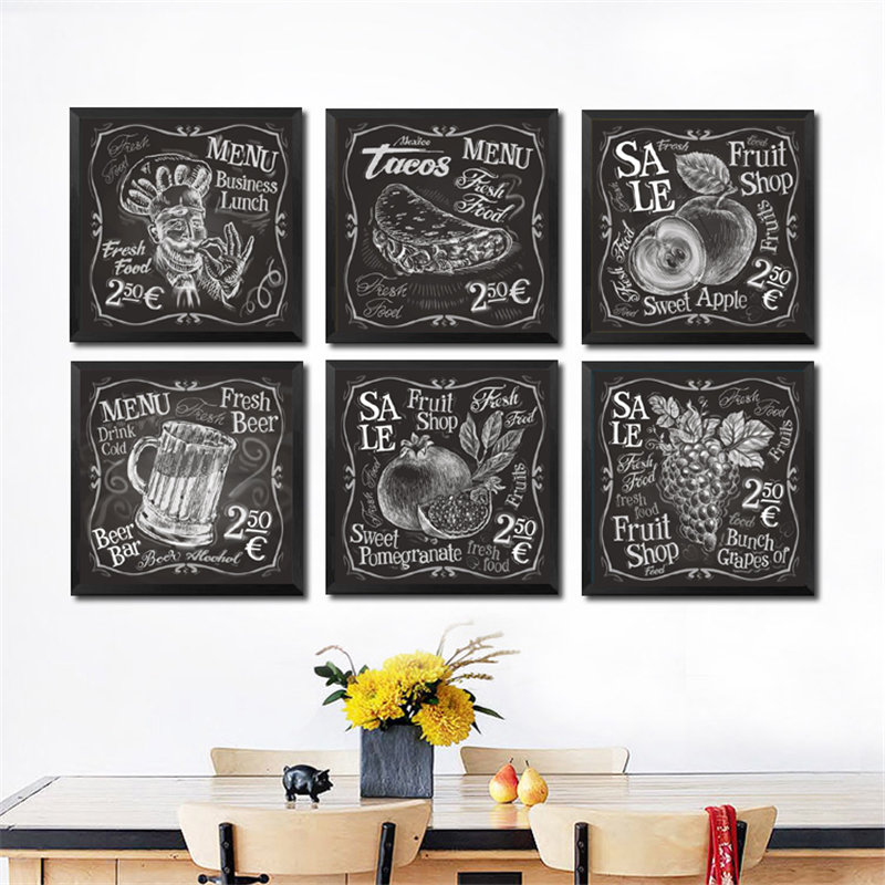 Wall Art Canvas Painting Black White
