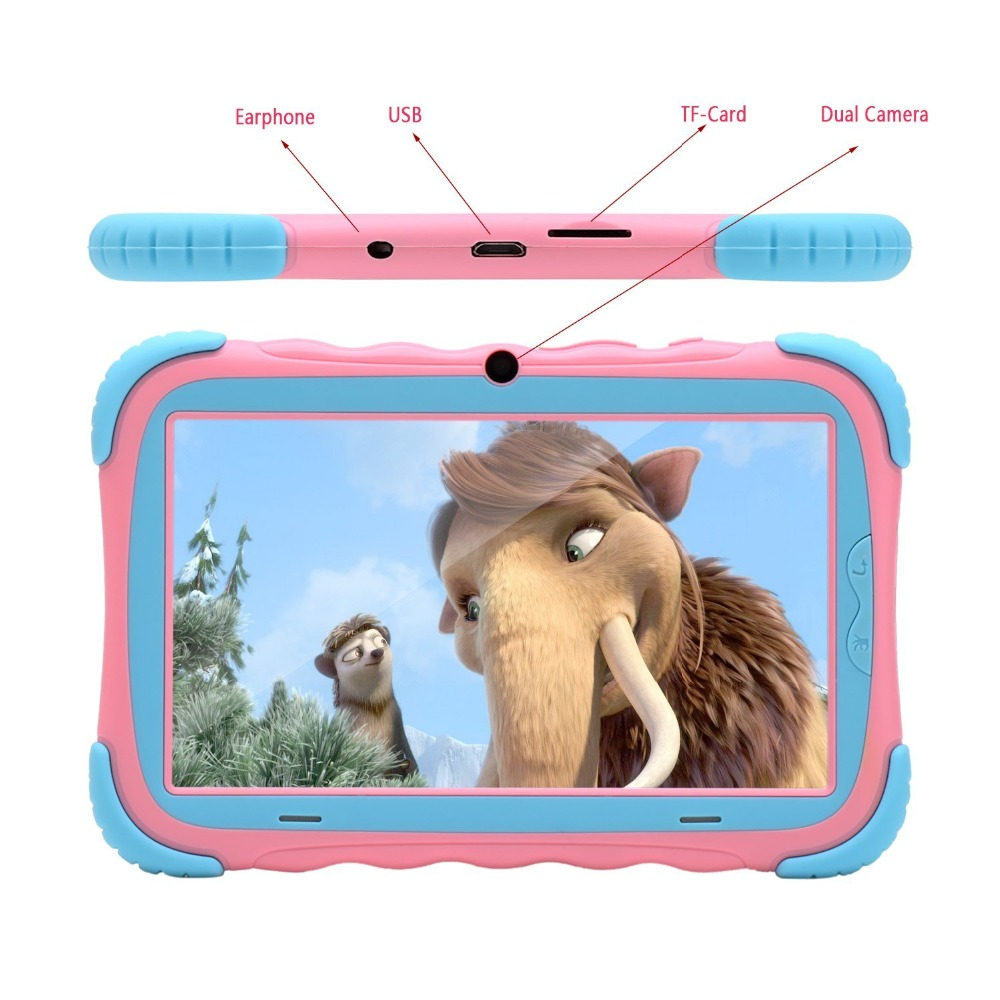 iRULU 7 inch Android 7 1 Kids Tablet 16GB Babypad Edition PC with Wifi and Camera GMS Certified Supported Kids Proof Case Pink in Tablets from Computer Office