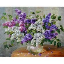 Алмазная живопись yikee цветы сирени квадратные Стразы