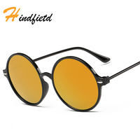 Oversized Retro Round Sunglasses Women Brand Designer Vintage Sun Glasses Female Eyewear Steampunk Mirror Oculos De Sol LD-17