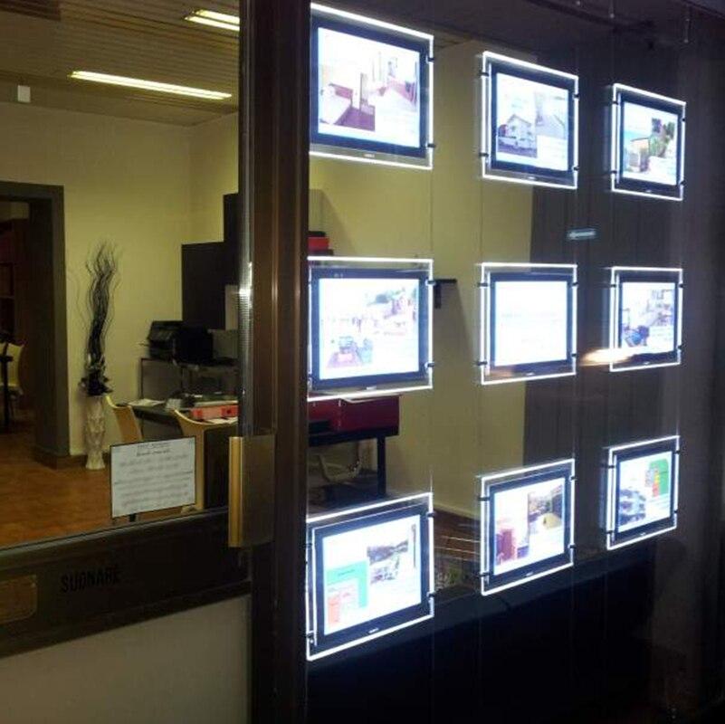 9CS Immobilien schaufenster rahmen, einseitig magnet gesicht ...