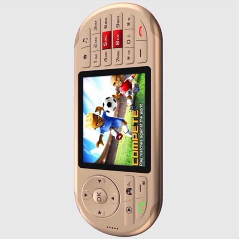 Lecteur MP3 4 de téléphone portable droit de double carte de machine de jeu tenue dans la main avec le haut-parleur lampe de poche LED