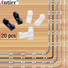 20個ケーブルワインダークリップ粘着充電器クラスプデスクワイヤーコードイヤホン電話線タイ定着オーガナイザー車壁クランプホルダー