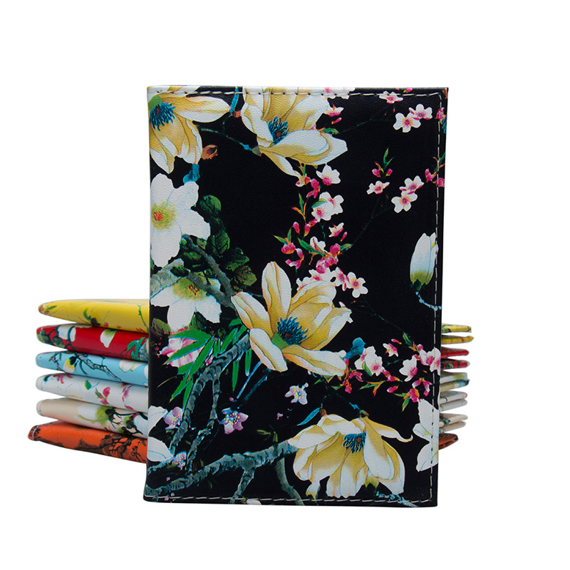 Brand Quality Floral Printing on The Passport Case Bag Fashion Travel Passport Cover for ...