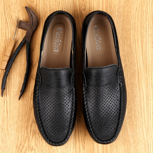 Image 4 - Italian Mens Shoes Casual Luxury Brand Summer Men Loafers Genuine Leather Moccasins Light Breathable Slip on Boat Shoes JKPUDUN