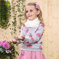 KAMIWA 2016 Spring Fashion Tomato Teenage Girls Cotton Long-sleeve T Shirts O-neck Children Clothing Pullover Baby Kids Clothes