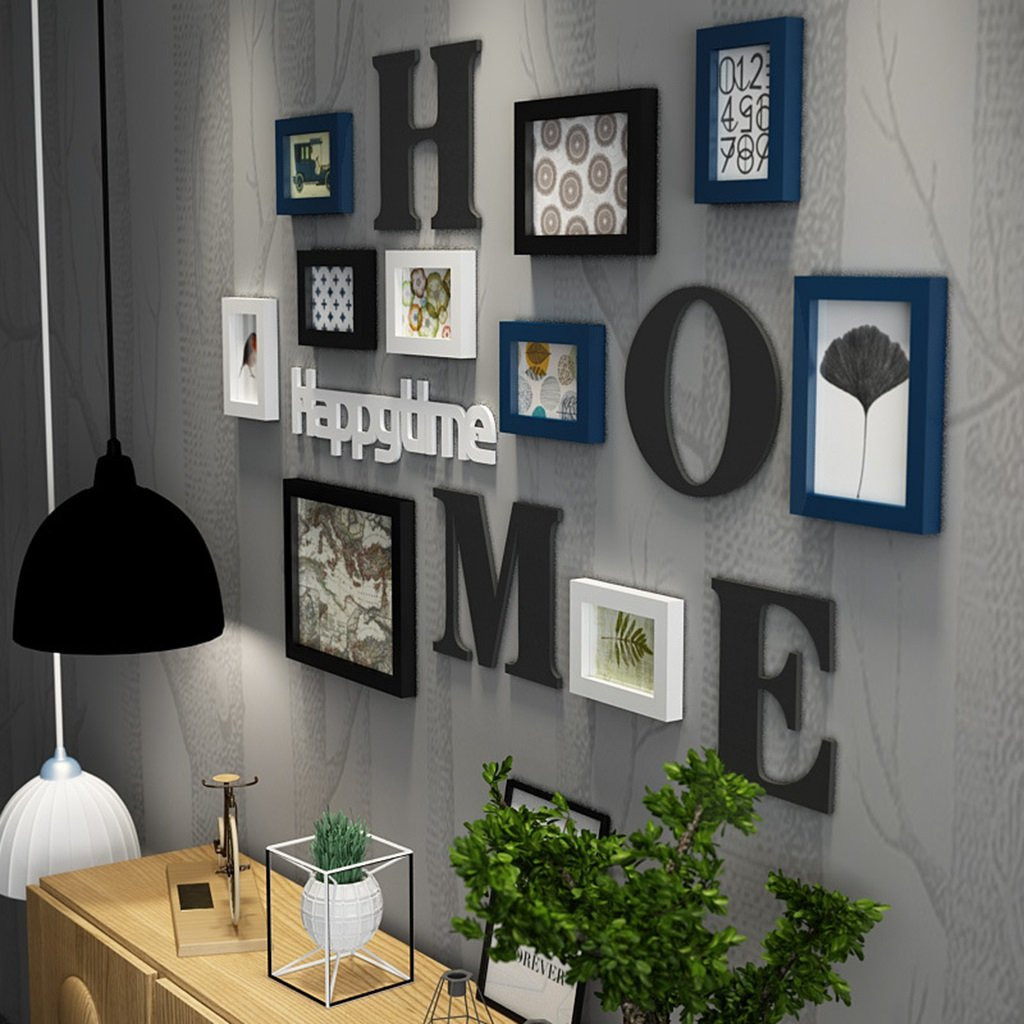 Us 40 21 41 Off Family Photo Frame Picture Sticker Home Hanging Wall Collage Decor Wedding Art Decals Poster Ws In From