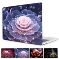 Luxuriant 3D Peony Floral Print Laptop case For Macbook Pro 13 with touch bar A1707 Crystal Clear Hard Cover For Pro A1708 Case