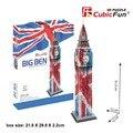 CubicFun 3D puzzle brinquedo DIY modelo de papel de presente Big Ben de Londres bandeira Nacional pintura C094T grande arquitetura do mundo livre grátis