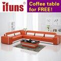 IFUNS мебель для Дома Секционный диван в коже полный гостиной секционные диваны кресла l форма качество кожи (fr)