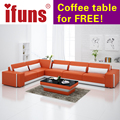 IFUNS Home furniture Sectional sofa in leather full living room sectional couches recliners l shape quality leather (fr)