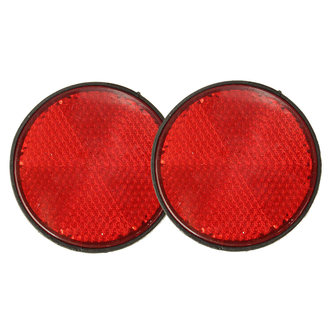 2pcs Round Red Reflector Universal For Motorcycle ATV 5.6*0.8cm