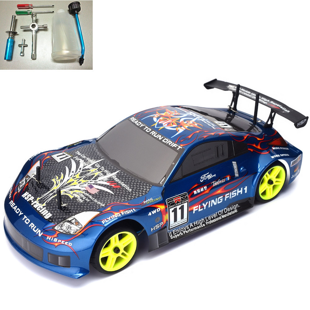 HSP Rc Drift Car 1/10 Scale 4wd Nitro Gas Power On Road