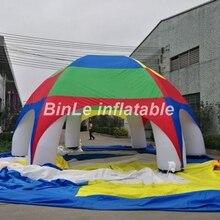Großer verkauf! Hohe qualität polyester wasserdicht regenbogen aufblasbare zelt spinne kuppelzelt für strand ereignisse