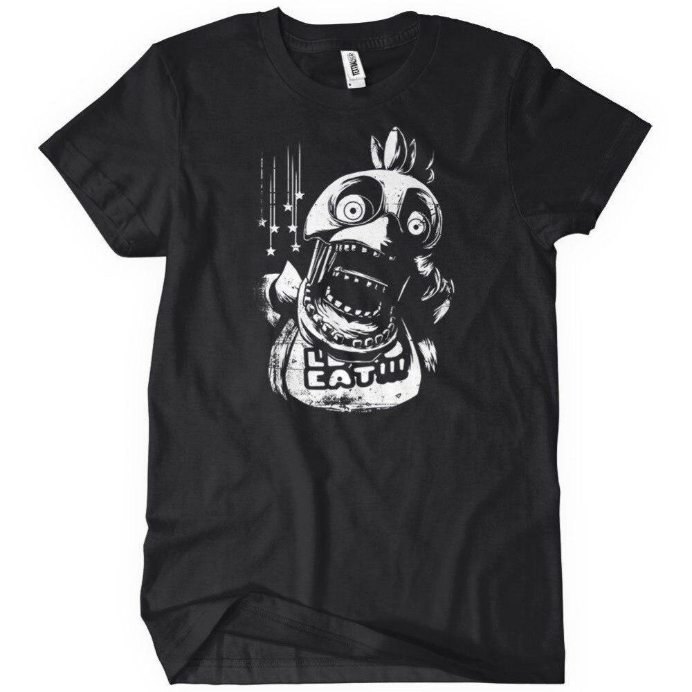 Возьмите Tee4U Новинка футболки короткий рукав Printed Crew Neck Чика пять ночей в Фредди S 3 Fnaf/футболка для Для мужчин