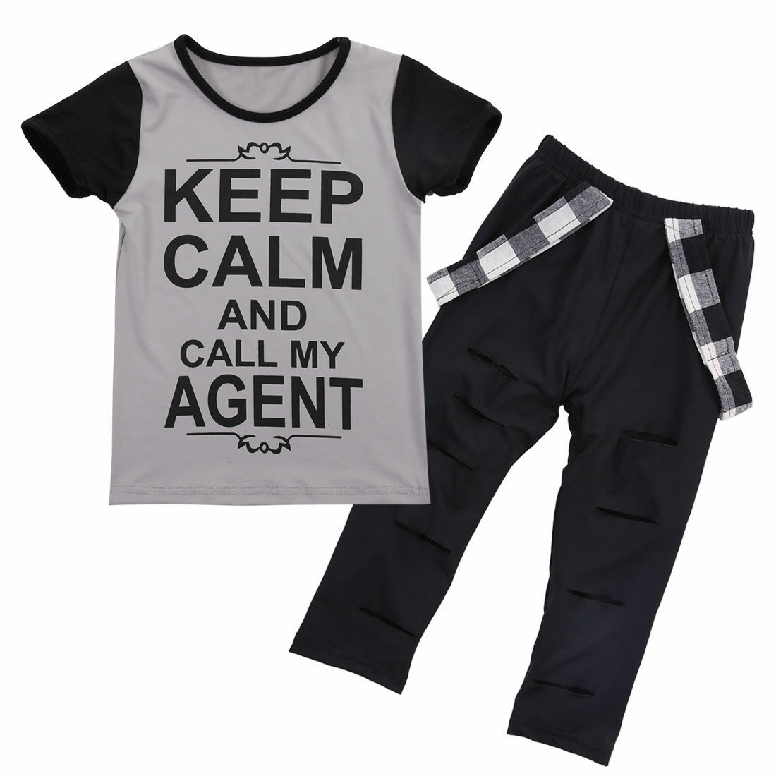 USA Boutique Toddler Kids Girl Tops T-shirt Pants Leggings Outfits Set Clothes