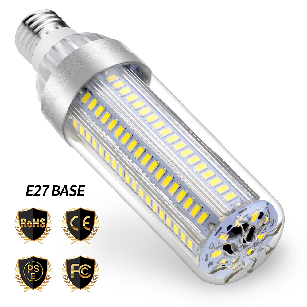 LED E27 25W Bulb Corn Lamp E26 220V No Flicker 50W High Power 35W Light 5730SMD Lights For Home 110V