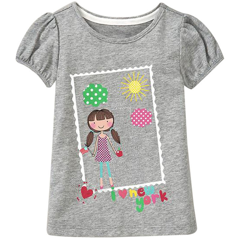 2018 Baby Boys Girls T-särk Summer Cute Cartoon T-särk Laste rõivad Euroopa Style Kids Topid & Tees